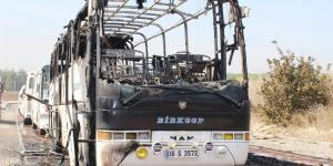 – Onlarca otobüs yanmaktan son anda kurtarıldı…. Nilüfer ilçesinde 1 otobüs yanarak kül oldu..!