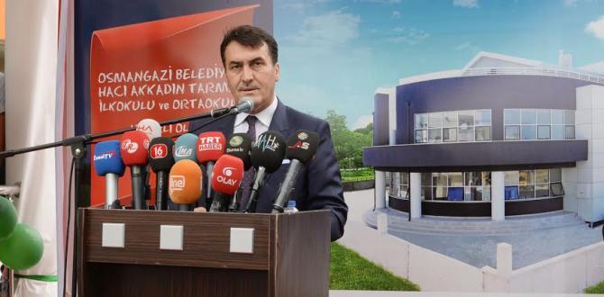 """""""OSMANGAZİ EĞİTİM YATIRIMLARIYLA FARK ATTI"""""""