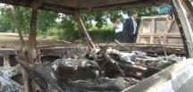 Hırsızlar Otomobili yaktı
