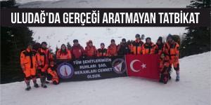 Uludağ'da Gerçeği Aratmayan Tatbikat