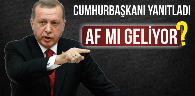 Cumhurbaşkanı Erdoğan'dan 'Af' Çıkışına Yanıt