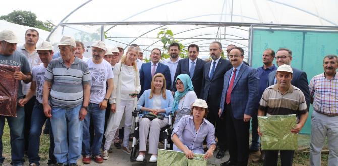 """""""TARIMLA ENGELLERİ AŞIYORUZ"""" PROJESİ İLK MEYVELERİNİ VERDİ!"""